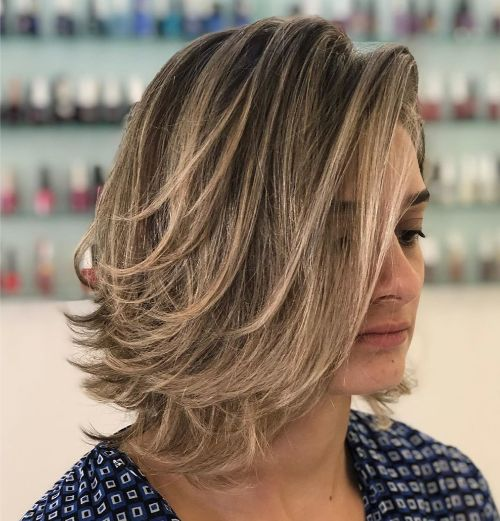 Piece-y Lob with Flipped Up Layers