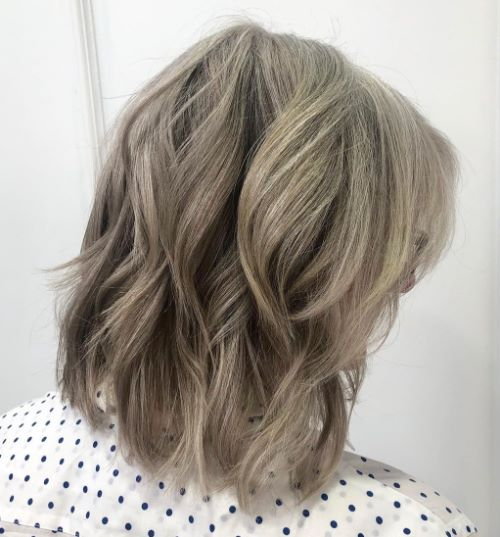 Natural-Looking Gray Blonde Balayage