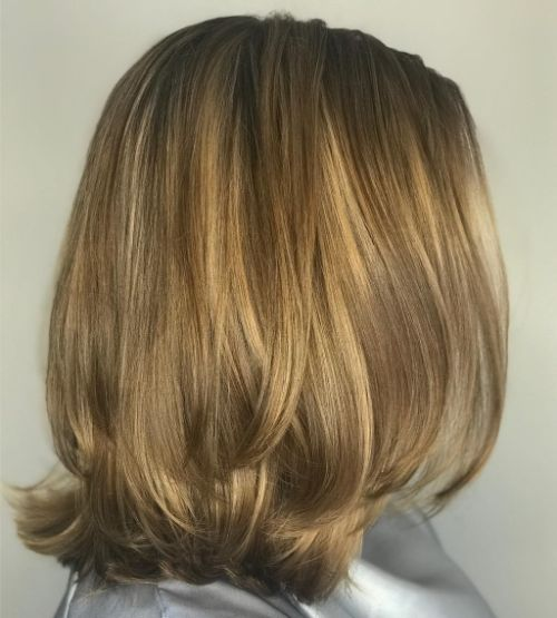 Shoulder-Length Straight Layered Cut