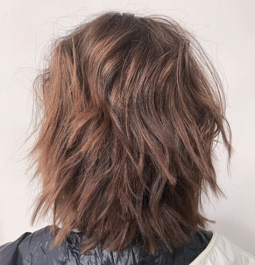 Straight Medium Length Choppy Hairstyle