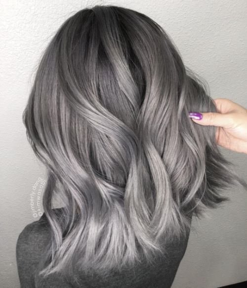 Medium Hairstyle for Thick Gray Hair