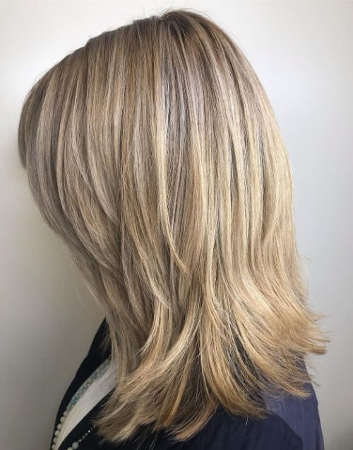 Thick Medium Cut with Side Bangs