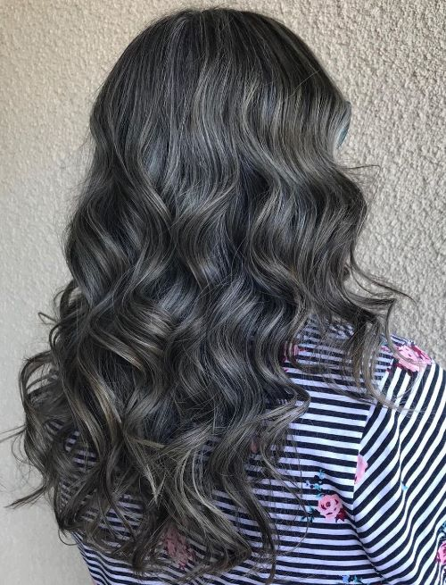 Balayage for Graying Dark Hair